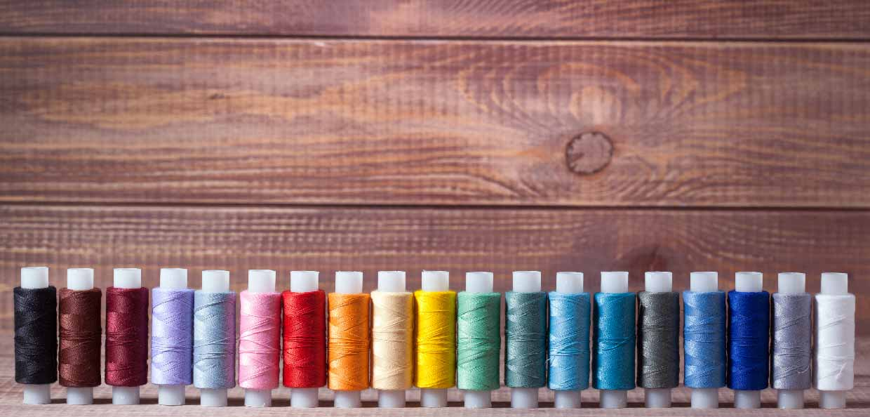 borduurgaren in vele kleuren