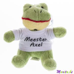 een mooie knuffel met gepersonaliseerd shirt