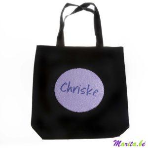 quel beau sac à provisions, avec paillettes imprimées, impression au choix