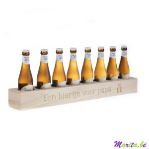 bierdrager voor 8 flesjes bier gegraveerd met eigen tekst