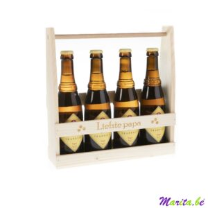 liefste papa, bierkratje voor 4 flesjes bier