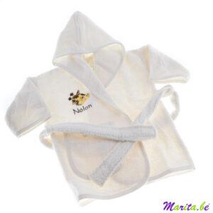 badjas met kap voor kleine kindjes