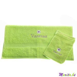 set van handdoek en washandje