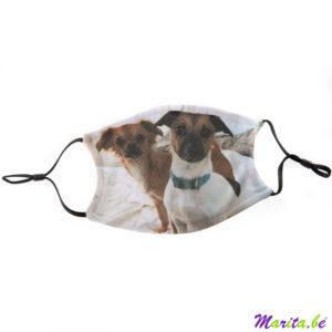 mondmasker met foto hondjes