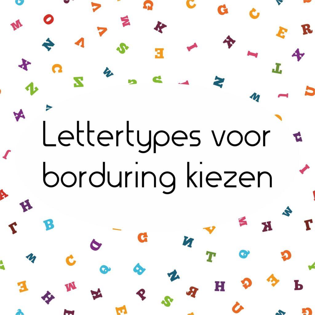 lettertypes voor borduring om te kiezen