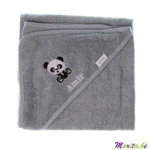 Badcape met panda Amil